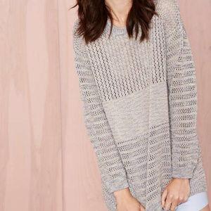 NWOT Nasty Gal Wicked Stitch Lurex Sweater